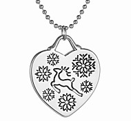 Necklace Pendant Necklaces Jewelry Daily Christmas Gifts Heart Heart Bohemia Alloy Women 1pc Gift Silver