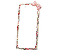 DIY Exquisite Bowknot with Rhinestones Pattern PC Hard Case for Multiple Huawei P8 Lite Honor 8 Mate 7 8 9