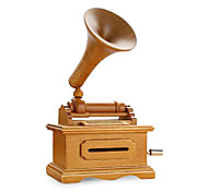 Wooden Music Box DIY Tape Victrola Music Box