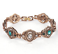 Women's Chain Bracelet Crystal Rhinestone Simulated Diamond Bohemian Fashion Silver Golden Jewelry 1pc