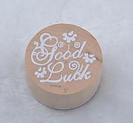 старинные цветочным узором слово круглый деревянный штамп (удачи)
