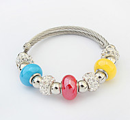 Fashion Candy Color Strand Bracelet Rhinestone Gift Jewelry Gift