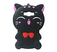 For Samsung Galaxy A7 Case Cover 3D Cartoon Cat Silicone Protection Back Cover Case