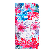 For Apple iphone6s iphone6s Plus iphone6 iphone6 plus The Flower Pattern PU Leather Case