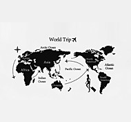 World Map Wall Stickers Removable Environmental Protection