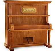 caixa de retro artesanato em madeira fonógrafo piano / simulado música criativa / caixa de música de madeira