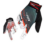 Gloves Sports Gloves Men's Cycling Gloves Spring Autumn/Fall Winter Bike Gloves Breathable Wearproof Quick Dry Full-finger Gloves Lycra
