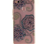 For Huawei P9 Lite P8 Lite Y6 II Enjoy 5 Honor 8 TPU Material IMD Process Blue Dream Flower Pattern Phone Case