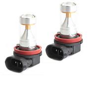hj h11 leds 30w 2600lm 6000-6500k 6x2835 smd bombilla de luz blanca para la luz de niebla del coche (12-24V, 2 piezas)