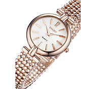 Mulheres Relógio Elegante Relógio de Moda Relógio de Pulso Bracele Relógio Quartzo Punk Colorido Mostrador Grande Aço Inoxidável Banda
