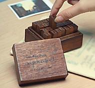 The Lowercase Letters Pattern Vintage Stamps Set(28 PCS/Set)