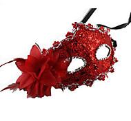 Маски Принцесса Сказка Фестиваль / праздник Костюмы на Хэллоуин красный коричневый Золотой оранжевый Однотонный Кружева МаскиХэллоуин