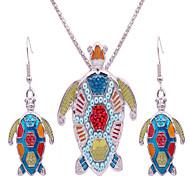 Juego de Joyas estilo de Bohemia Moda Europeo Forma de Animal Tortuga 1 Collar 1 Par de Pendientes Para Fiesta Diario Casual Playa 1 Set
