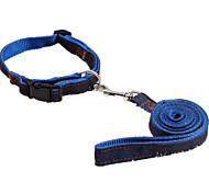 Dog Collar / Leash Casual Solid Red / Black / Blue Nylon