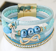 European Fashion Trend Leather Bracelet Magnetic Fashion Gift Jewelry