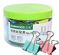Sunwood® 2033 32 Mm Color Long Tail Clip 24Pcs/Set