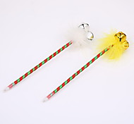 Christmas Feather/Metal Bell Ballpoint Pens