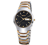 Men's Women's Fashion Watch Quartz Calendar Water Resistant/Water Proof Stainless Steel Band Casual Silver Brand