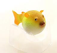Aquário Decoração Peixe Artificial Resina Verde Azul Laranja