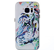 For Samsung Galaxy S8 Plus S7 Glow in the Dark Case Back Tiger Pattern Soft TPU Cover Case S8