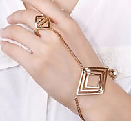 Bracelet Ring Bracelet Alloy Others Gift Valentine Jewelry Gift Gold,1 pair