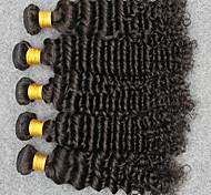 Tejidos Humanos Cabello Cabello Hindú Ondulado Medio 12 meses 5 Piezas los tejidos de pelo