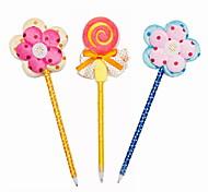 Fashion Plastic/Cloth/Ribbon Handmade Flower/Lollipop BallPoint Pen