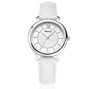 KEZZI Couple's Fashion Watch Wrist watch Quartz Japanese Quartz PU Band Casual Black White Brown Strap Watch