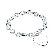 Lucky Doll Bracelet Chain Bracelet Cubic Zirconia Copper Silver Plated Birthday Gift Daily Jewelry Gift Silver1pc