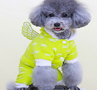 Dog Coat Dog Clothes Cute Solid Green Blue Blushing Pink