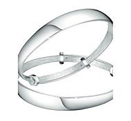 Браслеты Браслет цельное кольцо Стерлинговое серебро Others Мода День рождения Бижутерия Подарок Серебряный,1 пара