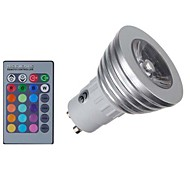 3W E14 GU10 GU5.3(MR16) GU5.3 Focos LED MR16 1 COB 300 lm RGB Regulable Control Remoto Decorativa AC 85-265 V 1 pieza