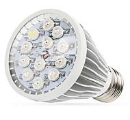 12w e27 / e14 / gu10 led grow lumières 12 LED haute puissance (8red 2blue de 1UV 1white) 290-330lm ca 85-265 v 1 pcs