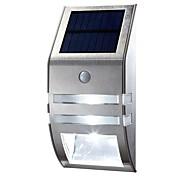 LED Night Light Stainless Steel Home Solar Garden Lights Outdoor Solar Wall Lamp Body Sensor Street Lamps