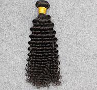 Vinsteen Grade 8A Virgin Burmese Human Hair Extensions Wet Wavy Deep Wave Hair Extensions 1 Piece 100g MoreThicker Hair Natural Color Soft Smooth