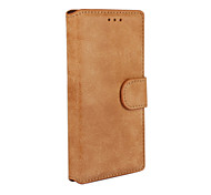 For Huawei Case Wallet / Card Holder / with Stand / Flip Case Full Body Case Solid Color Hard PU Leather Huawei Huawei P7