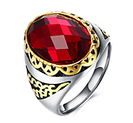 Муж. Кольцо Мода бижутерия Драгоценный камень Нержавеющая сталь Титановая сталь Стекло Круглый Геометрической формы Бижутерия Назначение