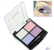 1Pcs Professional 4 Colors Fashion Glitter Eyeshadow Palette Natural Cosmetics Naked Makeup Shining Eye Shadow With Brush