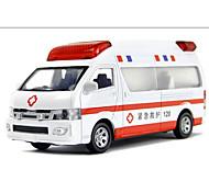 Ambulancia Vehículos de tracción trasera Juguetes de coches 1:10 Metal Blanco