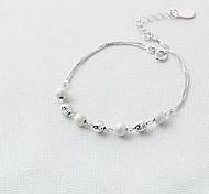 Women's Chain Bracelet Sterling Silver Fashion Simple Style Jewelry Silver Jewelry 1pc