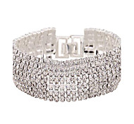 Women's Tennis Bracelet Zircon Simulated Diamond Alloy Fashion Jewelry White Golden Jewelry 1pc