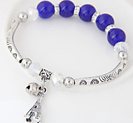 Women's Charm Bracelet Crystal Resin Alloy Fashion Jewelry Silver Dark Blue Red Blue Pink Jewelry 1pc