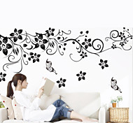 1Pcs   Wall Art Decal Decoration Fashion Romantic Flower Wall Sticker  Home Decor
