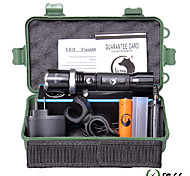 U'King ZQ-940B-US CREE XML-T6 2000LM 5Mode Flashlight Torch Kit with Attack Head Self-defense Function and Bike Mount
