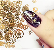 1set DIY Steampunk Decor Copper  Nail Art Decoration