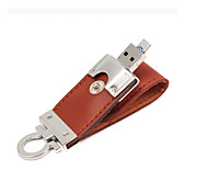 2 in 1 Leather USB 3.0 OTG Flash Drive 32GB Micro USB Memory Stick (Brown) 32GB