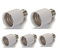 E27 to E40 Large PVC LED Lamp Screw Base Socket 110V - 240V (5 Pieces)