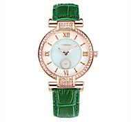 Women's Fashion Watch Quartz Water Resistant / Water Proof Leather Band Green Brand SINOBI