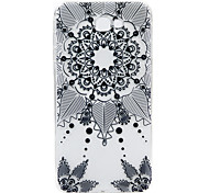 For Samsung Galaxy J7Prime J2Prime  phone Case Black Flowers Lace Embossed Pattern TPU Material High Penetration