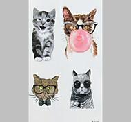 Fashion Tattoo Kitten Waterproof Tattoo Stickers